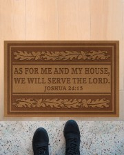"""As for me and my house we will the lord doormat Doormat 22.5"""" x 15""""  aos-doormat-22-5x15-lifestyle-front-10"""