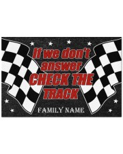 """Racing if we don't answer check the track doormat Doormat 22.5"""" x 15""""  front"""