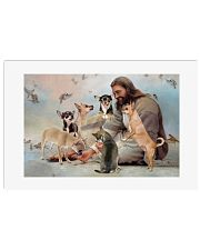 God surrounded by Chihuahua angels Poster 24x16 Poster front