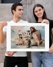 God surrounded by Chihuahua angels Poster 24x16 Poster poster-landscape-24x16-lifestyle-21