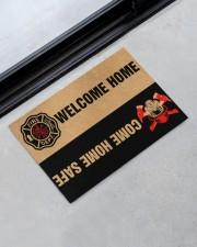 """Fire DEPT welcome home come home safe doormat Doormat 22.5"""" x 15""""  aos-doormat-22-5x15-lifestyle-front-09"""