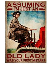 Assuming I'm just an old lady was your first mistake poster 11x17 Poster front