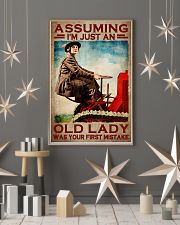 Assuming I'm just an old lady was your first mistake poster 11x17 Poster lifestyle-holiday-poster-1