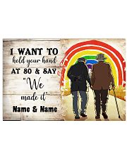 LGBT I want to hold your hand at 80 poster 24x16 Poster front