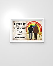 LGBT I want to hold your hand at 80 poster 24x16 Poster poster-landscape-24x16-lifestyle-02