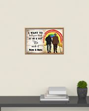 LGBT I want to hold your hand at 80 poster 24x16 Poster poster-landscape-24x16-lifestyle-09