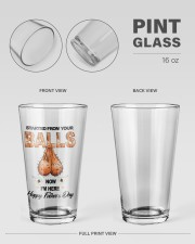Started from your balls Happy father's day glass  16oz Pint Glass aos-16oz-pint-glass-lifestyle-front-21