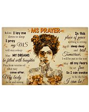 MSPayer before I lay me down to sleep poster 24x16 Poster front