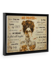 MSPayer before I lay me down to sleep poster Floating Framed Canvas Prints Black tile