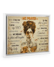 MSPayer before I lay me down to sleep poster Floating Framed Canvas Prints White tile