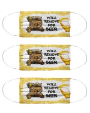 Bear will remove for beer face mask Cloth Face Mask - 3 Pack front