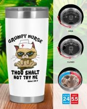 Cat Grumpy nurse thou shalt not try me  tunbler 20oz Tumbler aos-20oz-tumbler-lifestyle-front-46