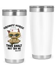 Cat Grumpy nurse thou shalt not try me  tunbler 20oz Tumbler front