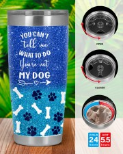 You cant tell me what to do you not my dog tumbler 20oz Tumbler aos-20oz-tumbler-lifestyle-front-46