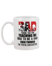 Biker dad thank for teach me how to be a man mug Mug back