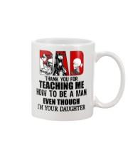 Biker dad thank for teach me how to be a man mug Mug front