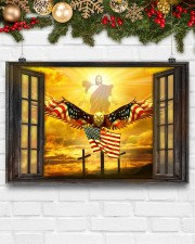 Jesus American eagle in the sky have faith poster 24x16 Poster aos-poster-landscape-24x16-lifestyle-29