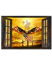 Jesus American eagle in the sky have faith poster 24x16 Poster front
