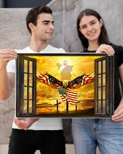 Jesus American eagle in the sky have faith poster 24x16 Poster poster-landscape-24x16-lifestyle-21