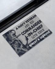 """A navy veteran and his commander in chief doormat Doormat 22.5"""" x 15""""  aos-doormat-22-5x15-lifestyle-front-09"""