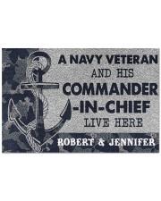 """A navy veteran and his commander in chief doormat Doormat 22.5"""" x 15""""  front"""