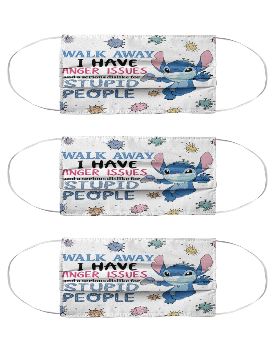 Stitch walk away I have anger issues and a serious Cloth Face Mask - 3 Pack