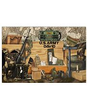 Veteran once a soldier always a soldier poster 17x11 Poster front