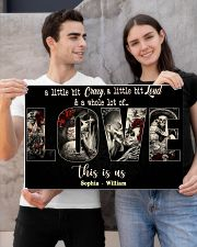 Skull sugar a little bit crazy a little bit poster 24x16 Poster poster-landscape-24x16-lifestyle-21