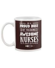 I'm a proud boss of freaking awesome nurses mug Mug back