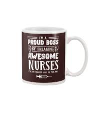 I'm a proud boss of freaking awesome nurses mug Mug front