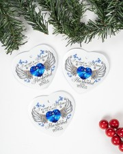 I'm Not A Widow I'm A Wife ornament Heart ornament - 3 pieces (porcelain) aos-heart-ornament-3-pieces-porcelain-lifestyles-01