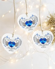 I'm Not A Widow I'm A Wife ornament Heart ornament - 3 pieces (porcelain) aos-heart-ornament-3-pieces-porcelain-lifestyles-03