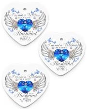 I'm Not A Widow I'm A Wife ornament Heart ornament - 3 pieces (porcelain) front
