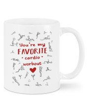 Valentine You're my favorite cardio workout mug Mug front