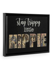 Girl Stay trippy little hippie poster Floating Framed Canvas Prints Black tile