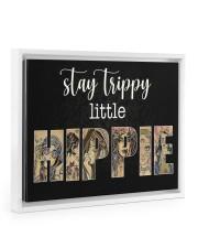 Girl Stay trippy little hippie poster Floating Framed Canvas Prints White tile