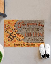 "The queen bee and her old drone live here doormat Doormat 22.5"" x 15""  aos-doormat-22-5x15-lifestyle-front-07"