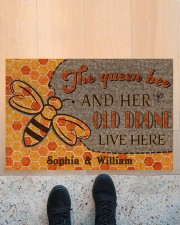 "The queen bee and her old drone live here doormat Doormat 22.5"" x 15""  aos-doormat-22-5x15-lifestyle-front-10"