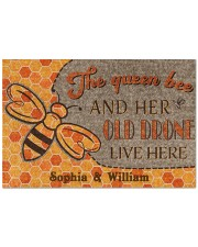 "The queen bee and her old drone live here doormat Doormat 22.5"" x 15""  front"