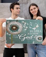 Dragonfly Be still and know that I am god poster 24x16 Poster poster-landscape-24x16-lifestyle-21