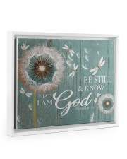 Dragonfly Be still and know that I am god poster Floating Framed Canvas Prints White tile