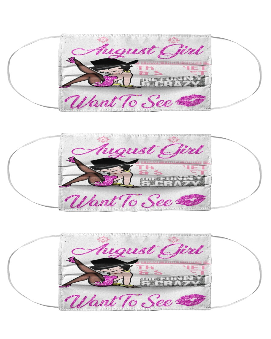 I am August girl the quiet and sweet the funny Cloth Face Mask - 3 Pack