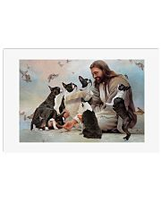 God surrounded by Boston Terrier angels Poster 24x16 Poster front