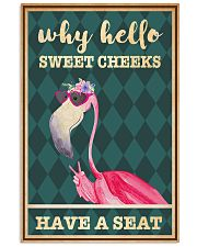 Flamingo why hello sweet cheeks have a seat poster 11x17 Poster front