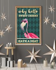 Flamingo why hello sweet cheeks have a seat poster 11x17 Poster lifestyle-holiday-poster-1