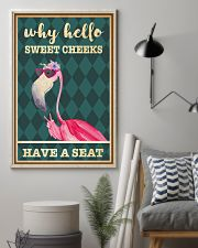 Flamingo why hello sweet cheeks have a seat poster 11x17 Poster lifestyle-poster-1