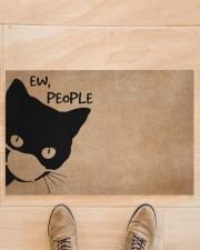 """Cat ew people doormat Doormat 22.5"""" x 15""""  aos-doormat-22-5x15-lifestyle-front-02"""