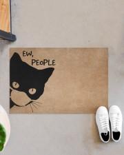 """Cat ew people doormat Doormat 22.5"""" x 15""""  aos-doormat-22-5x15-lifestyle-front-07"""