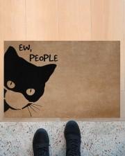 """Cat ew people doormat Doormat 22.5"""" x 15""""  aos-doormat-22-5x15-lifestyle-front-10"""