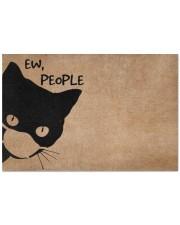 """Cat ew people doormat Doormat 22.5"""" x 15""""  front"""